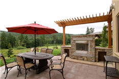 Patio Fireplace Design