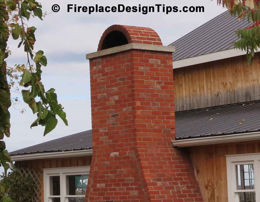 how to build a brick chimney fireplace