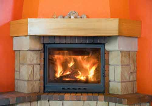 Fireplace Design Picture; Modern Fireplace Photo with LCD TV Screen Built-in Design