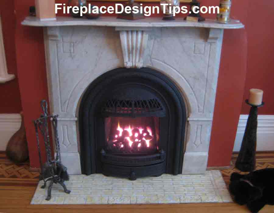 Picture of a Victorian Gas Fireplace Design