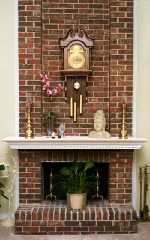Brick Fireplace Pictures, Great Room All Brick Wood Fireplace Picture