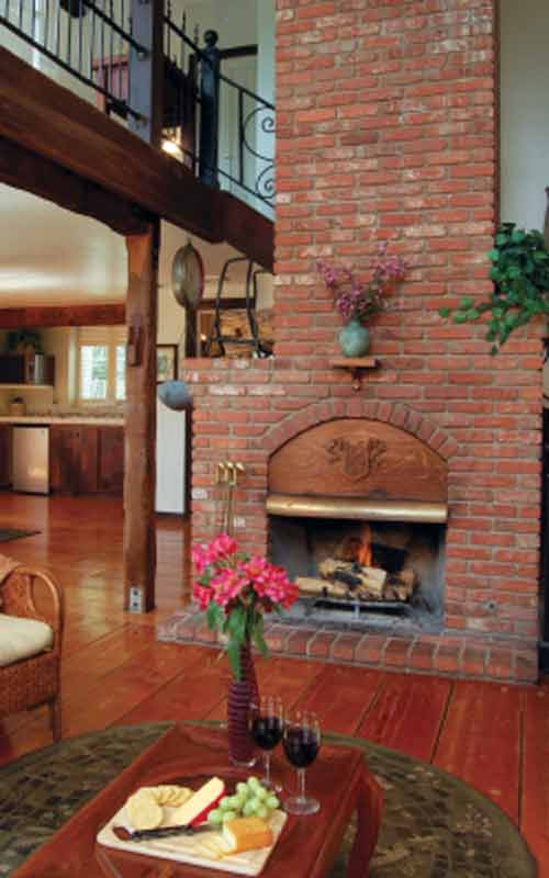 Brick Fireplace Pictures; Rustic Two Storey Brick Fireplace Design Picture