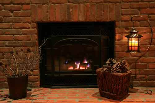Brick Fireplace Pictures; Brick Fireplace Photo using Simple Brick Design