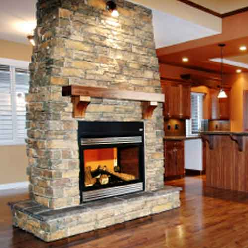 Stone Fireplace Next To The Outdoor Kitchen And A Lovely: Stone Fireplaces: 6 Impressive Stone Fireplace Pictures