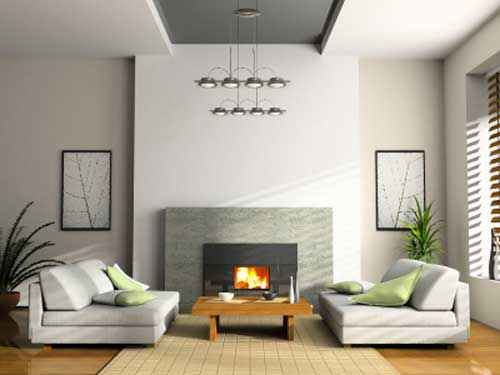 Fireplace Design Picture; Beautiful Picture of a Modern Stainless Steel Fireplace Design fired by Propane Gas